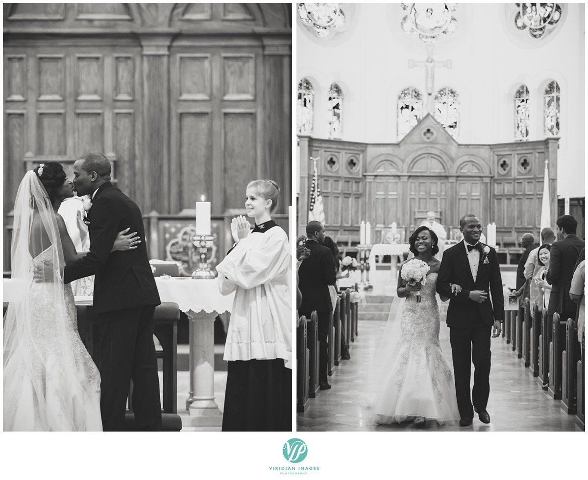 Holy Spirit Catholic Church Atlanta, GA Wedding Kiss Photo