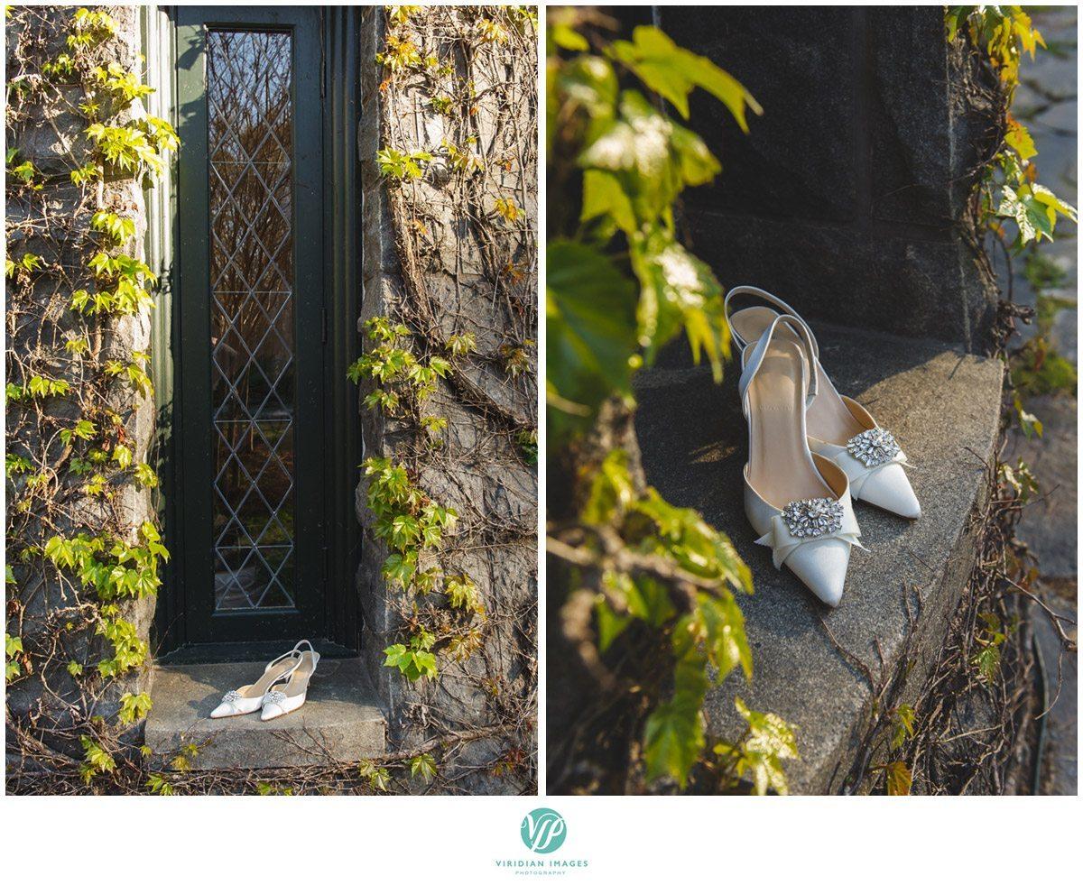 Bisham Manor Wedding brides shoes photo