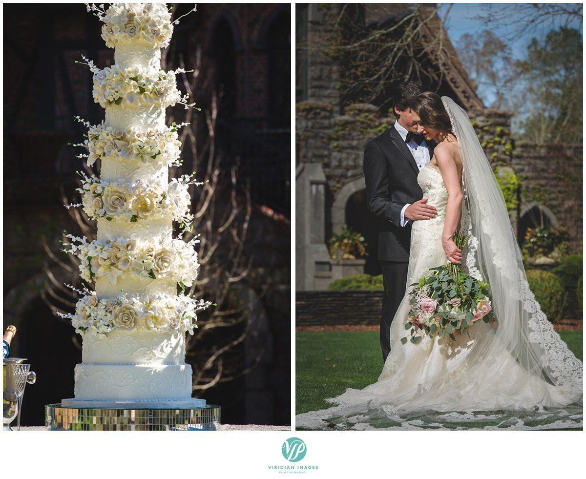 Bisham Manor Wedding castle bridal cake photo