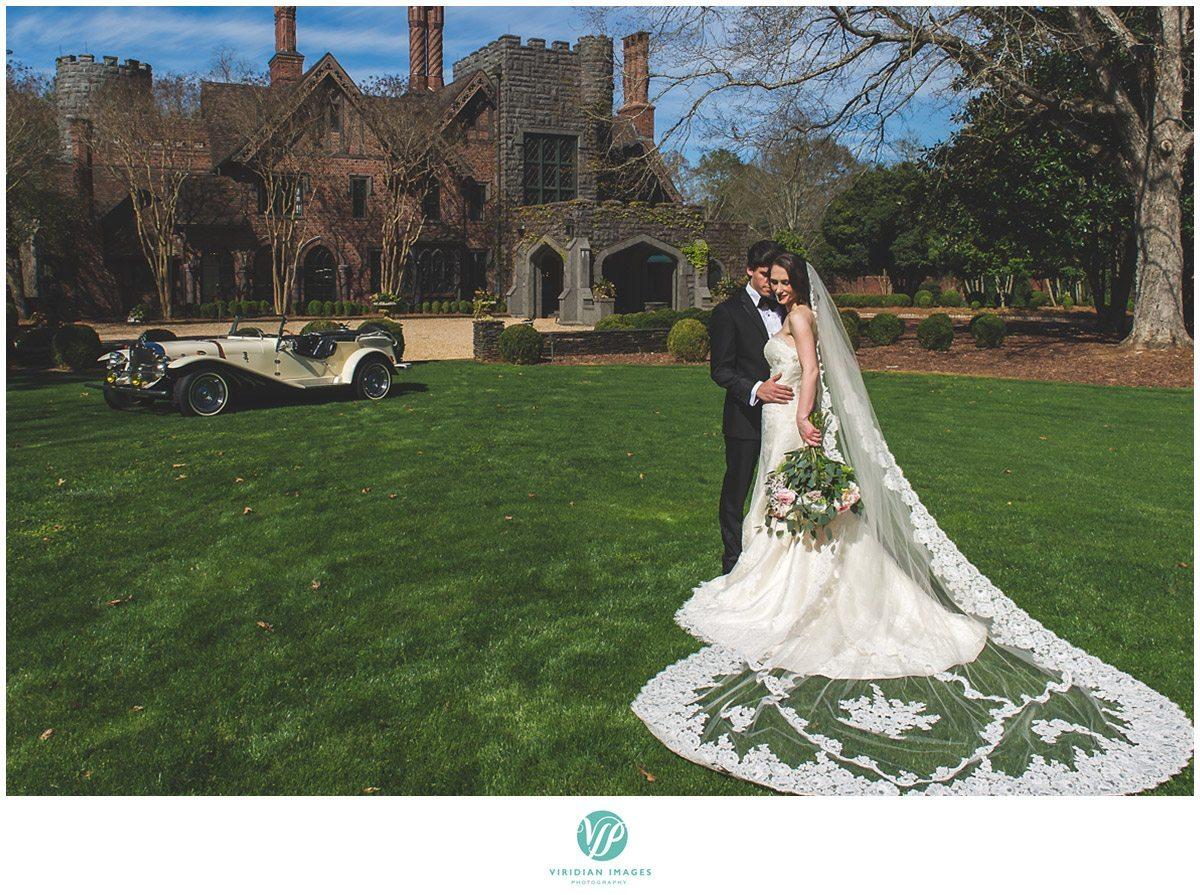 Bisham Manor Wedding castle bridal portrait photo