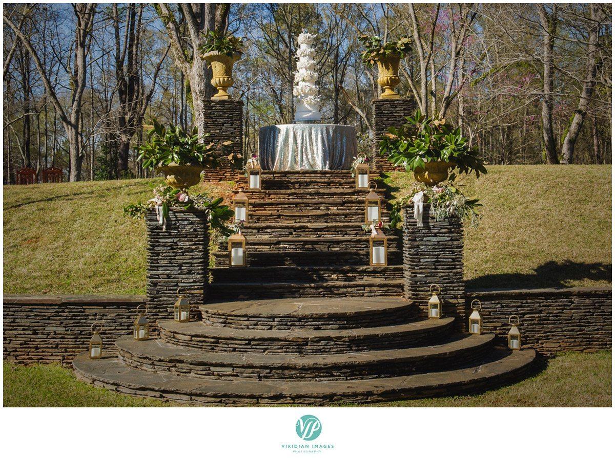 Bisham Manor Wedding castle wedding cake photo