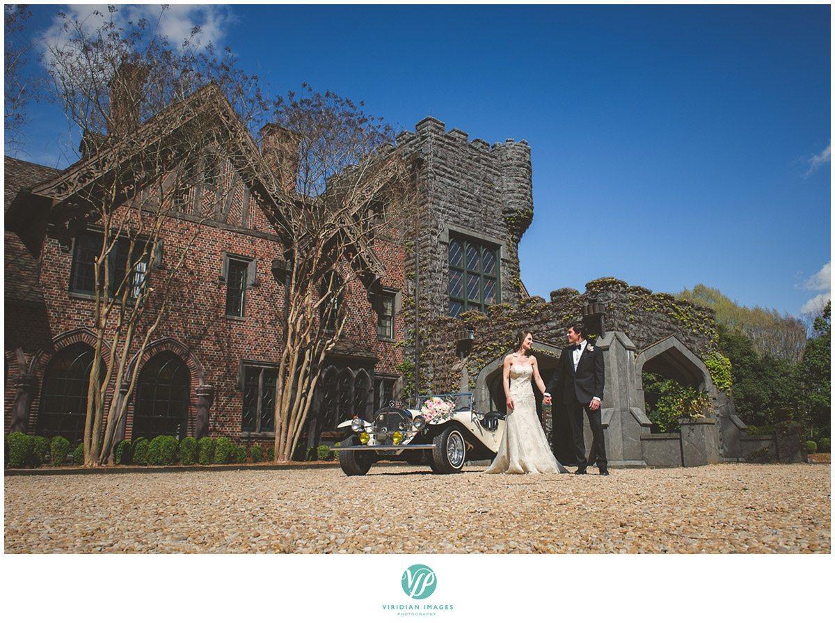 Bisham Manor Wedding castle first look photo