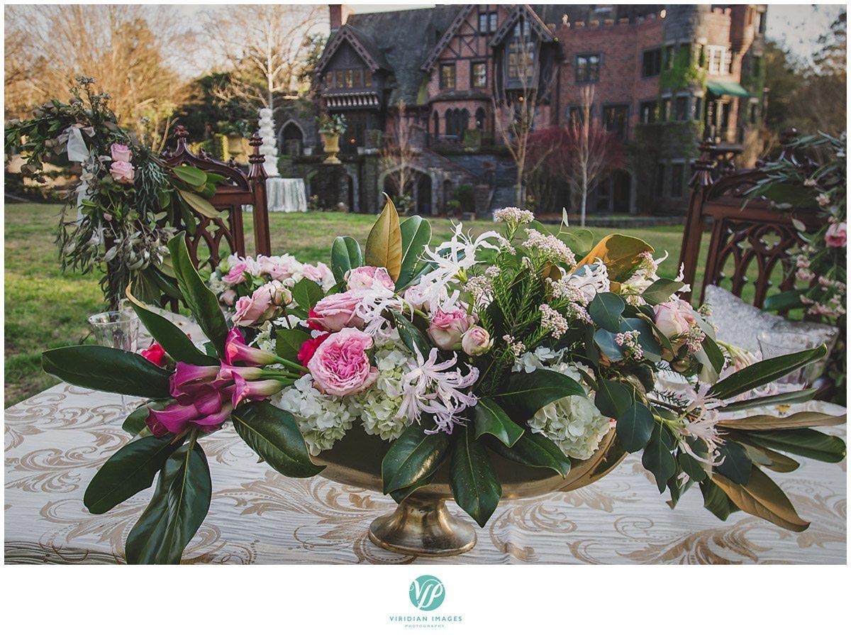 Bisham Manor Wedding tablescape Detail Photo