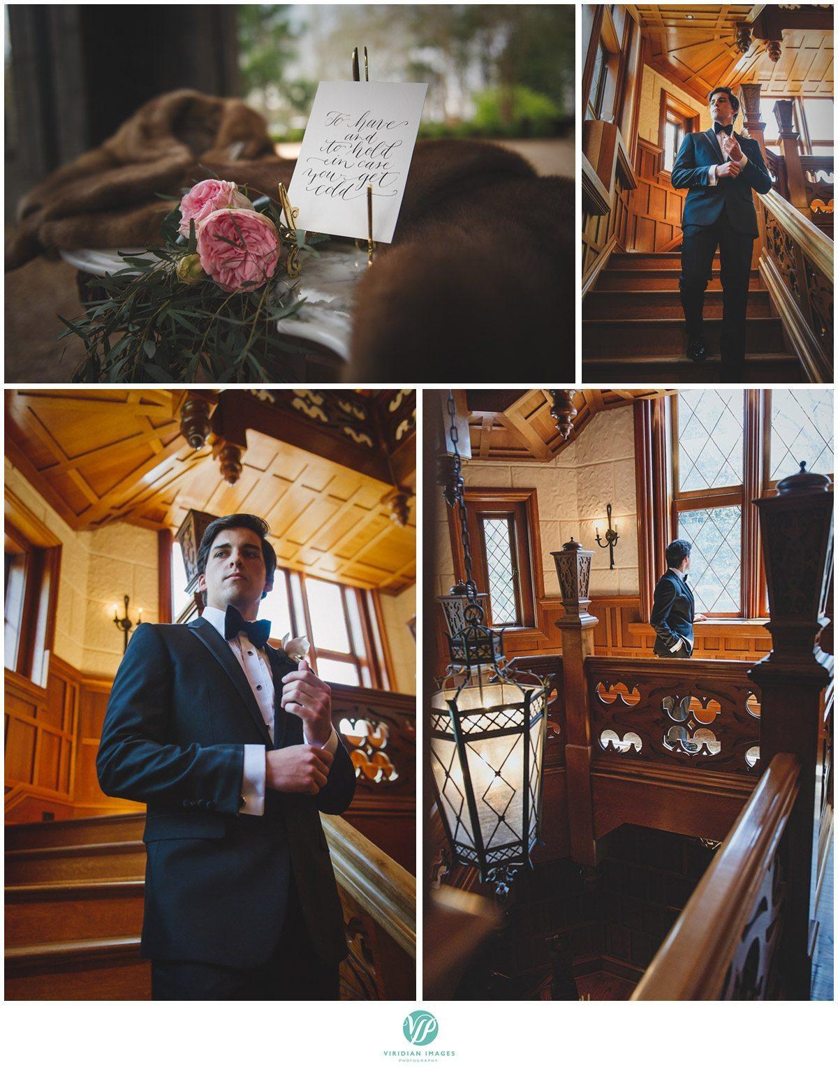 Bisham Manor Wedding grooms tuxedo photo