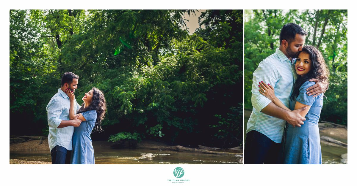 Chattahoochee Atlanta engagement playing in the river