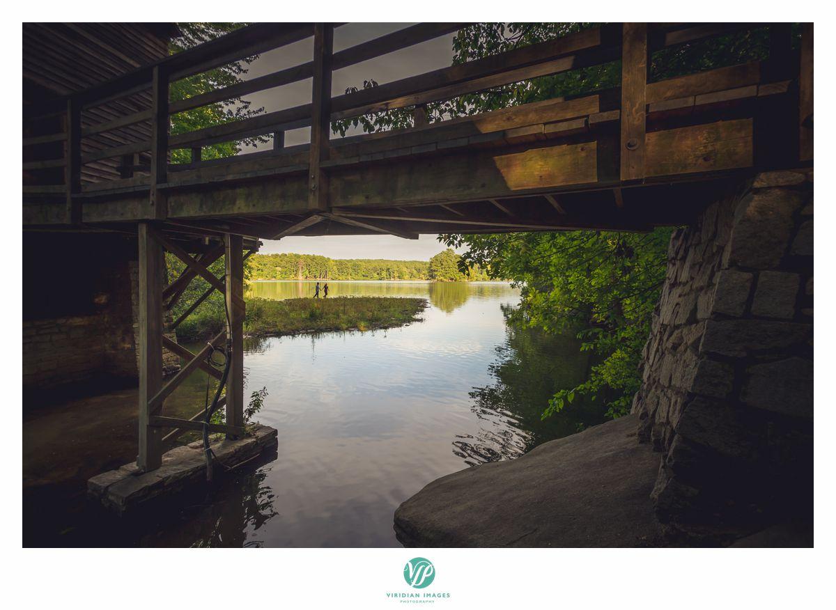 shot under bridge in stone mountain park