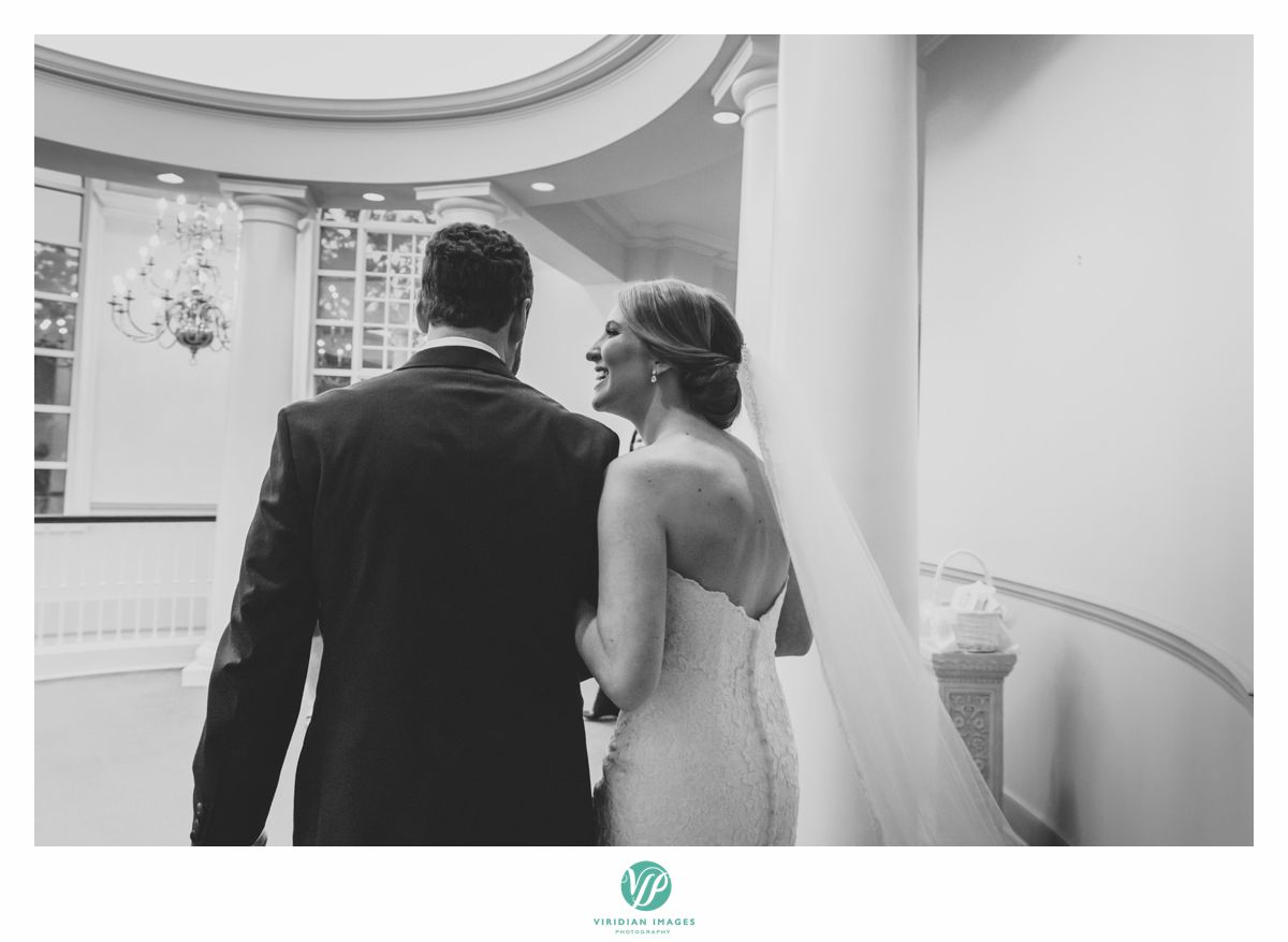 Bride and groom exiting at Peachtree Presbyterian