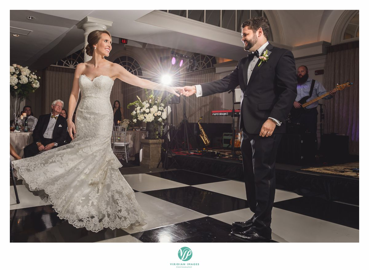Bride and groom first dance at 103 West