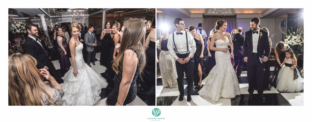 Bride and groom dancing at 103 west