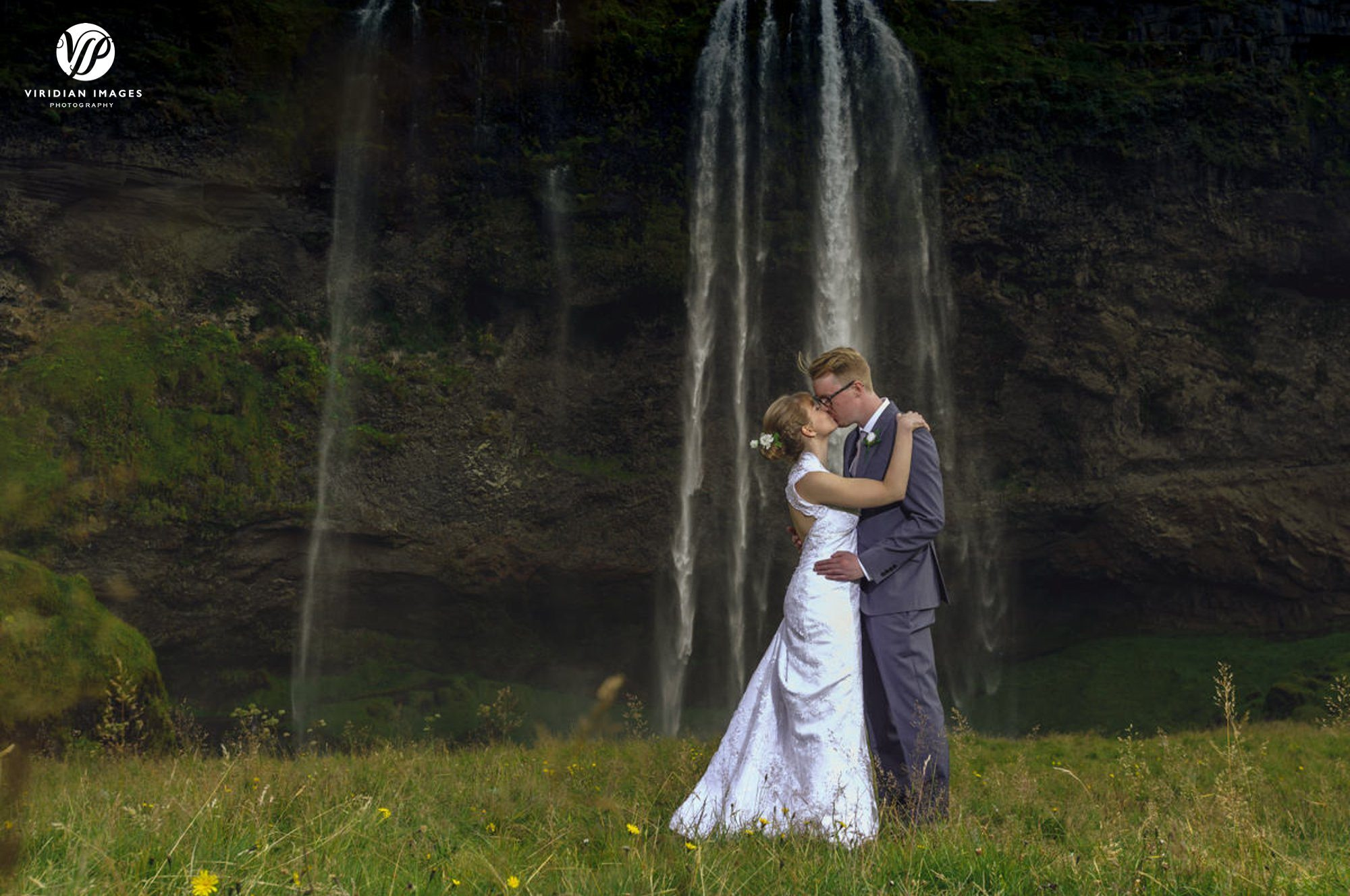 Romantic photograph in front of Seljalandsfoss Iceland