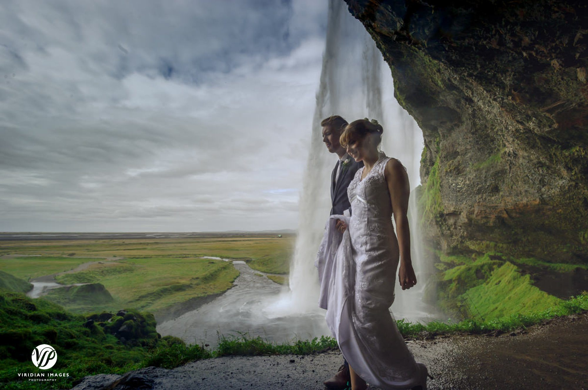 A walk behind Seljalandsfoss waterfall in Iceland