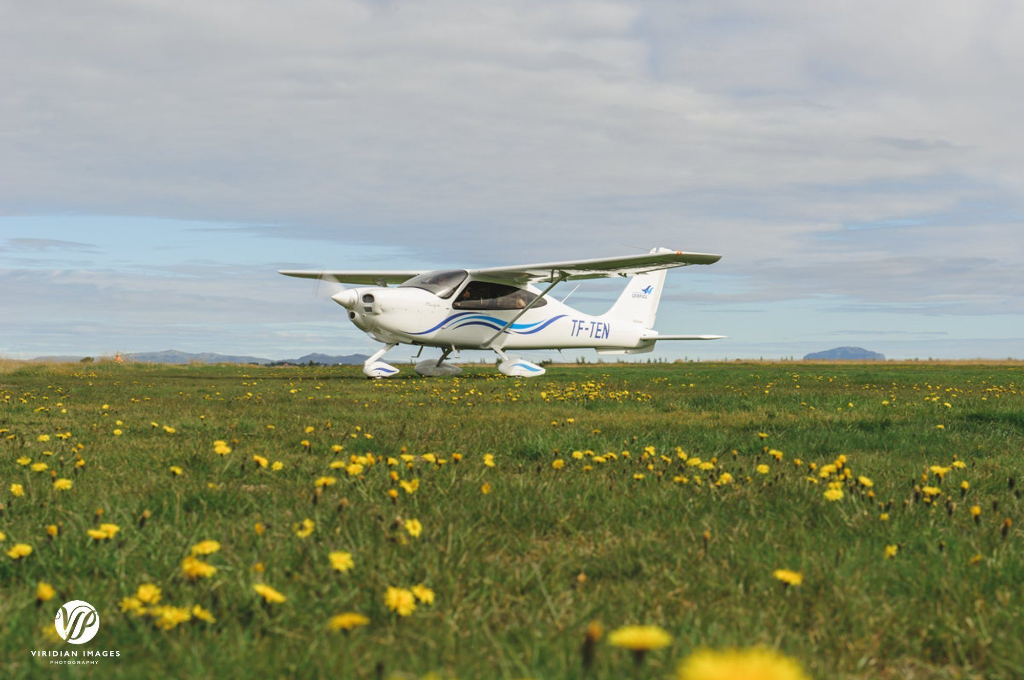 Tecnam plane approaching hella iceland