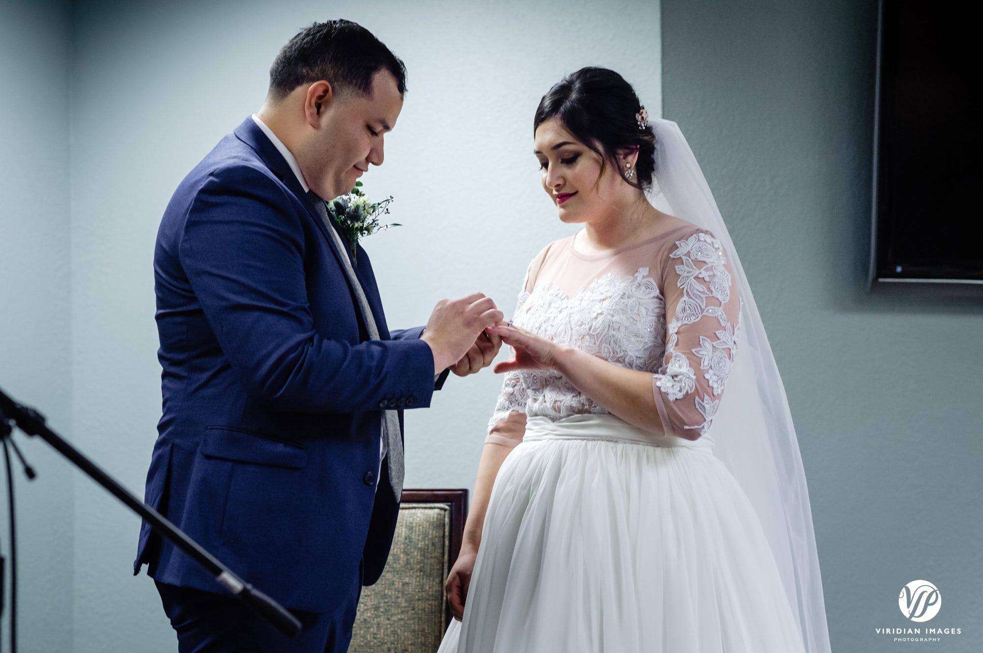Kingdom Hall wedding ring exchange