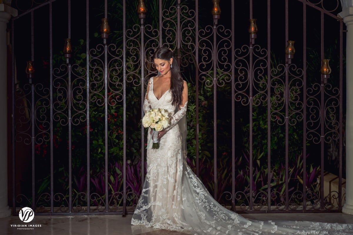 Secrets Capri Resort bride front iron gate