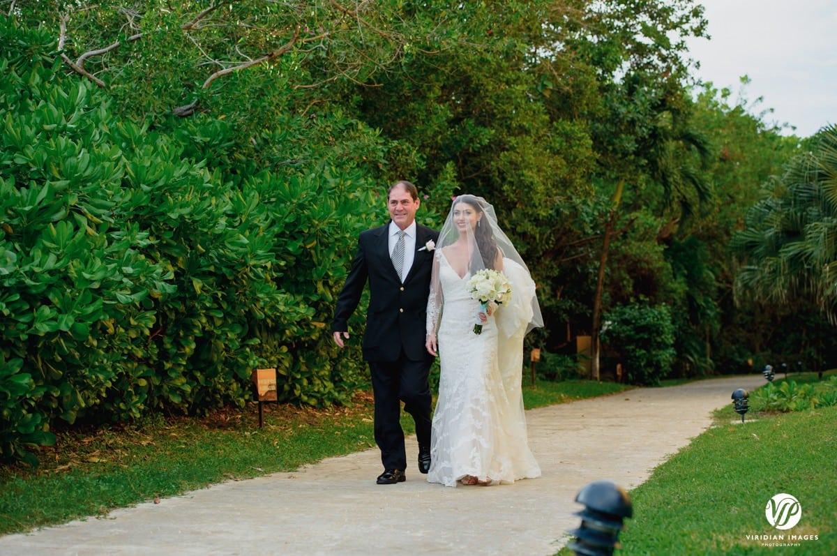 Secrets Capri Riviera Bride father processional