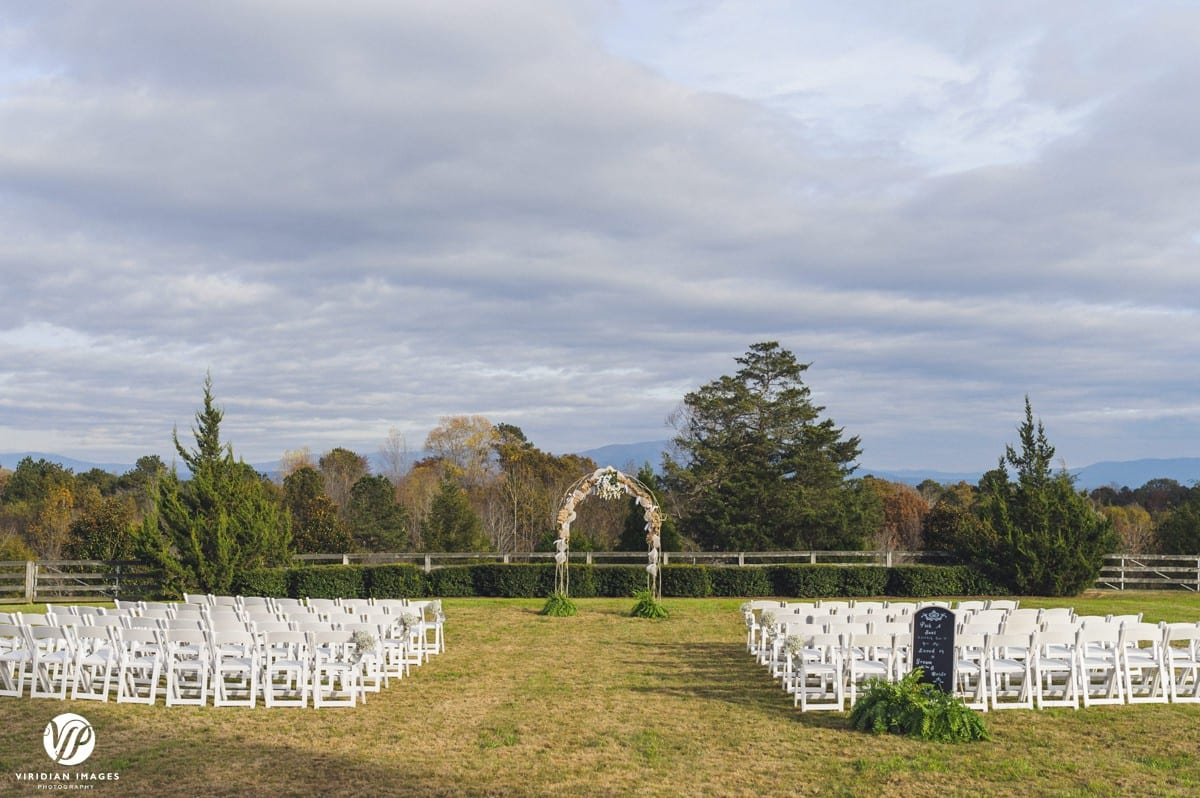 Walnut Hill Farm Ceremony Setting