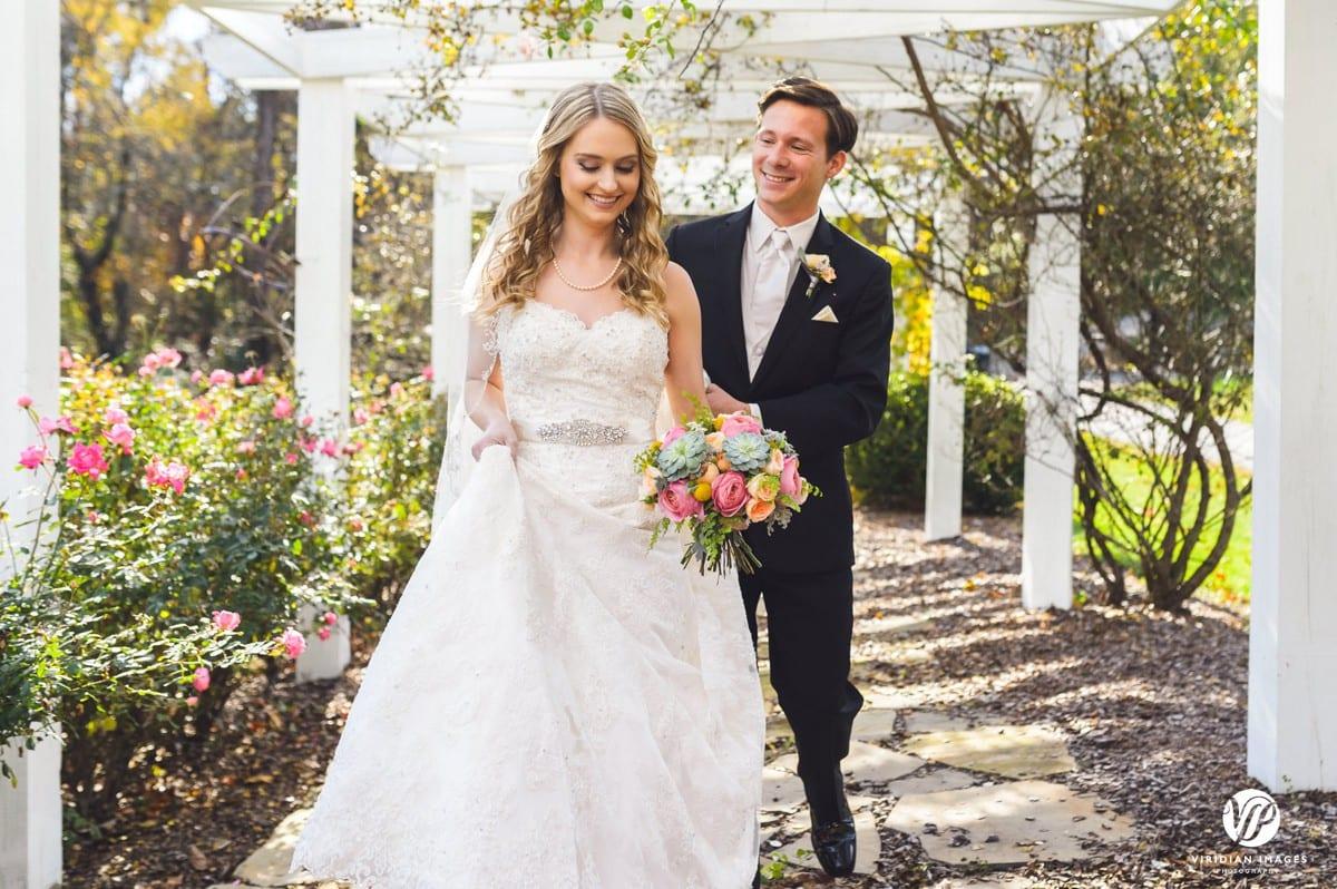 Bride and Groom first look Walnut Hill Farm