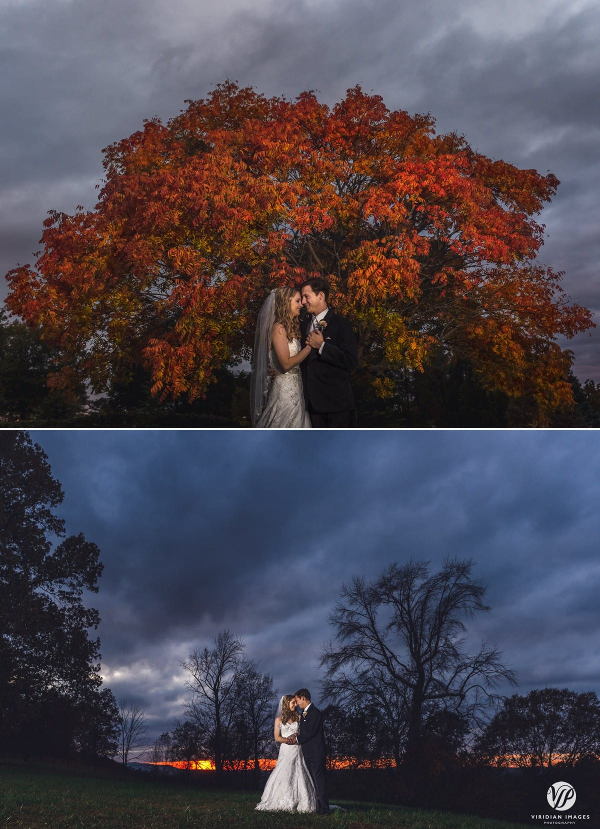 creative portrait wedding sunset walnut hill farm dalton ga