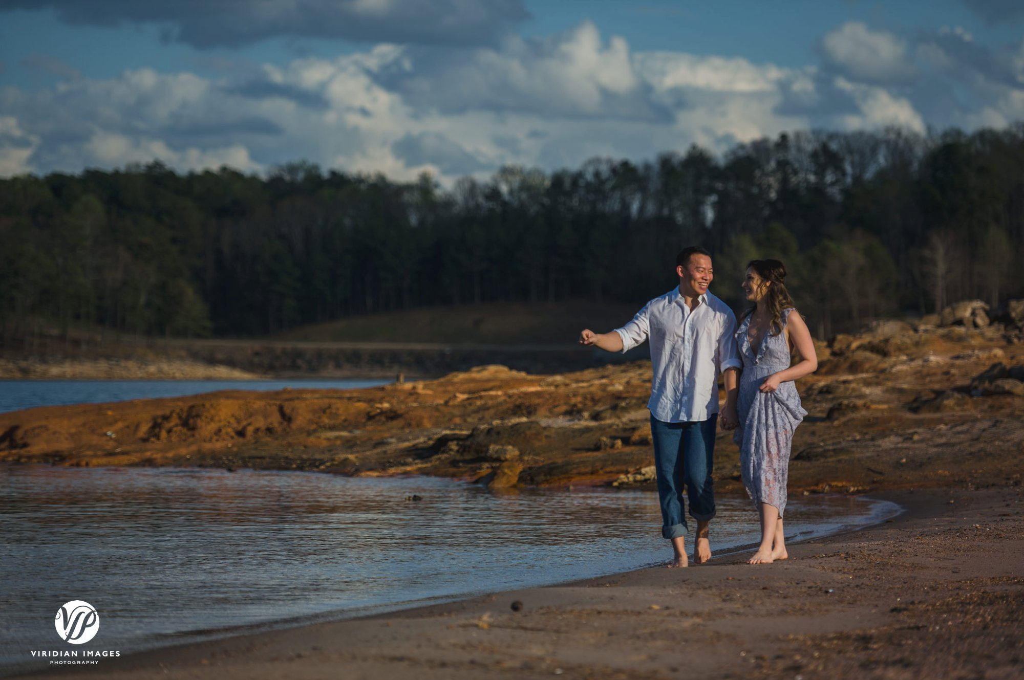 pineisle couple walking by water