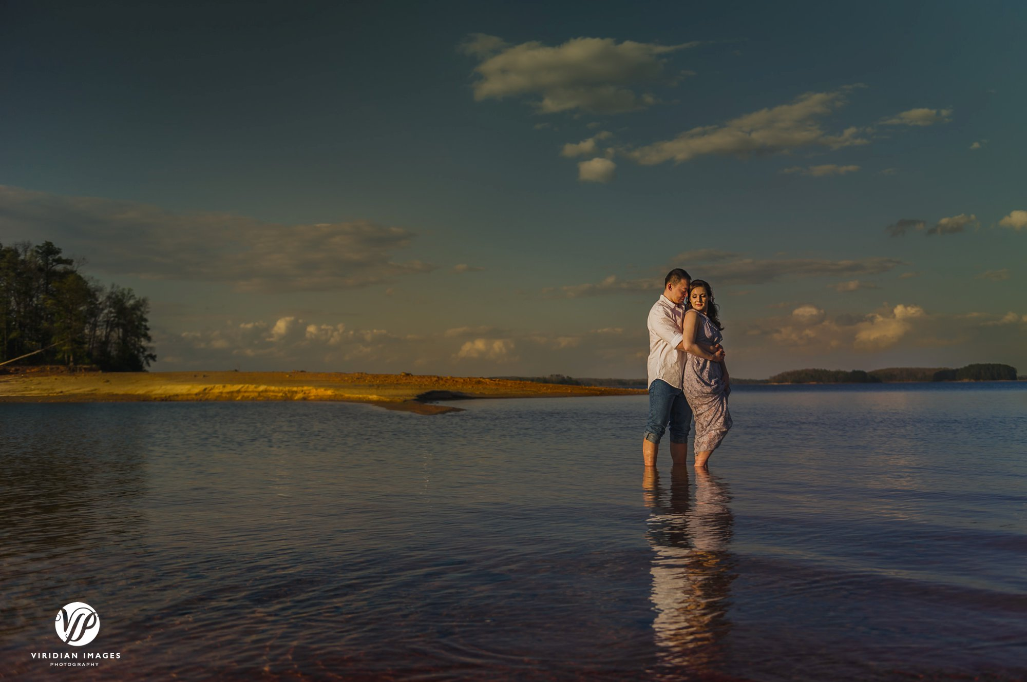 pineisle center lake romantic portrait