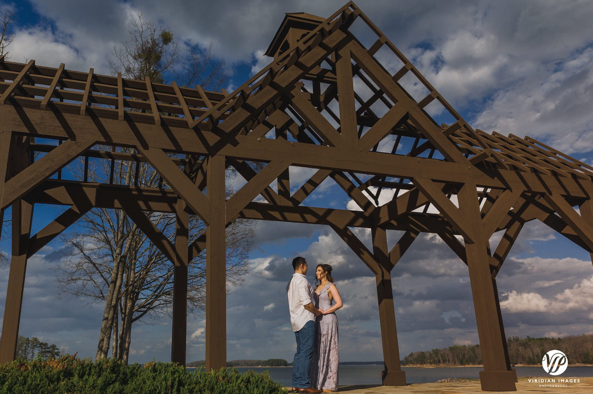 pineisle couple under pergola