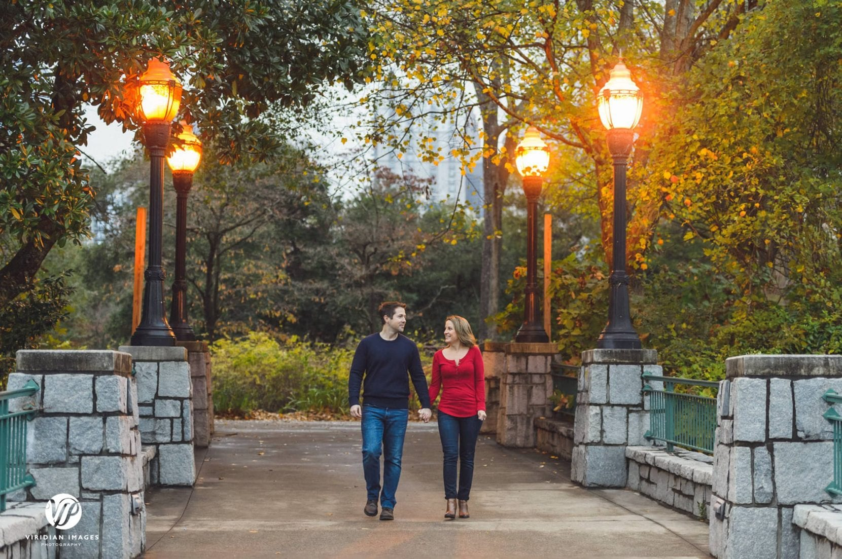 couple walking along pathway