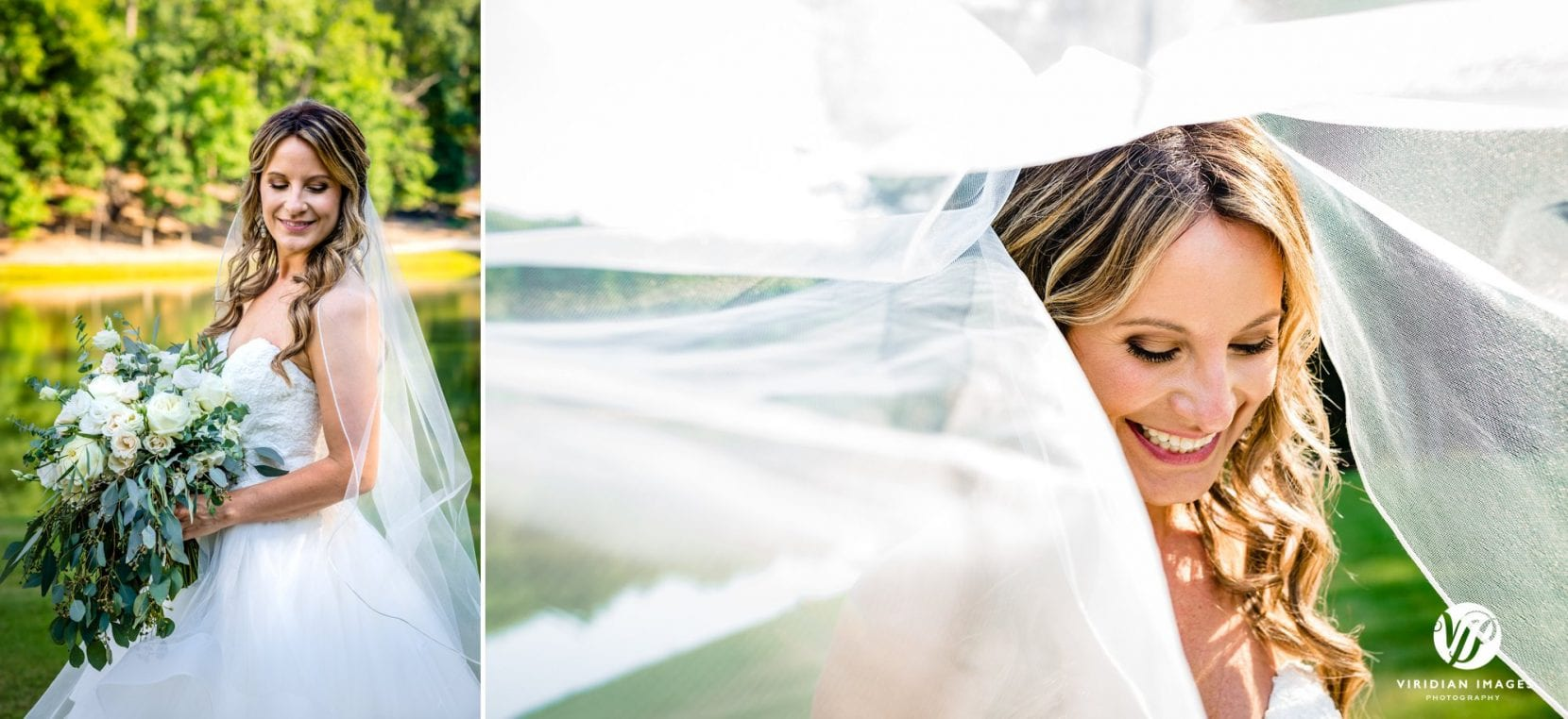 portraits of bride after wedding