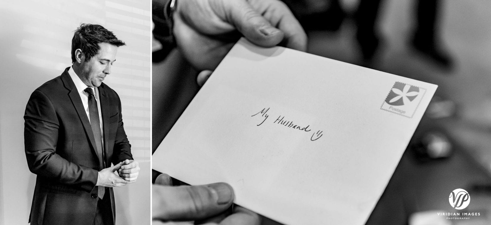 groom portrait and brides letter to groom