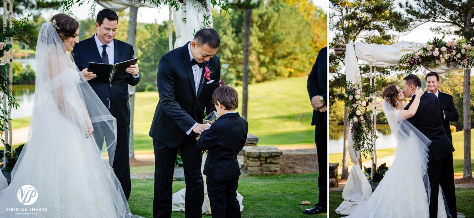 ring bearer bringing ring to groom