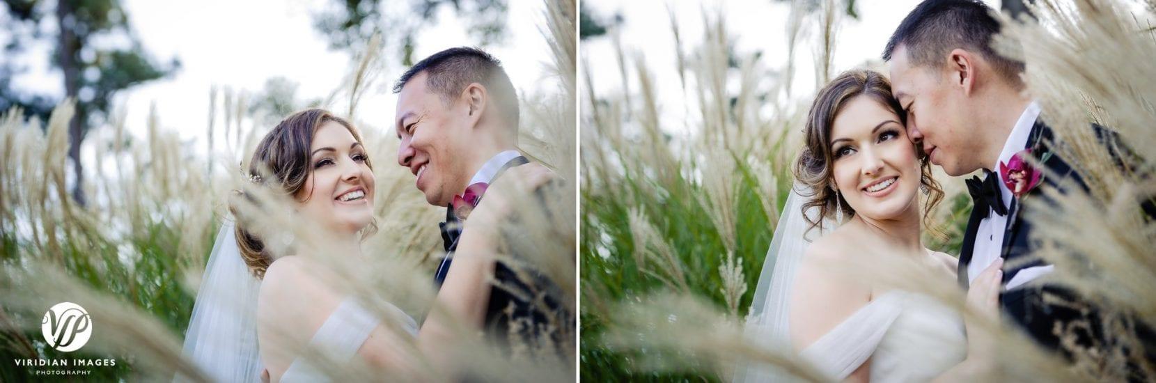 wedding portraits tall grass