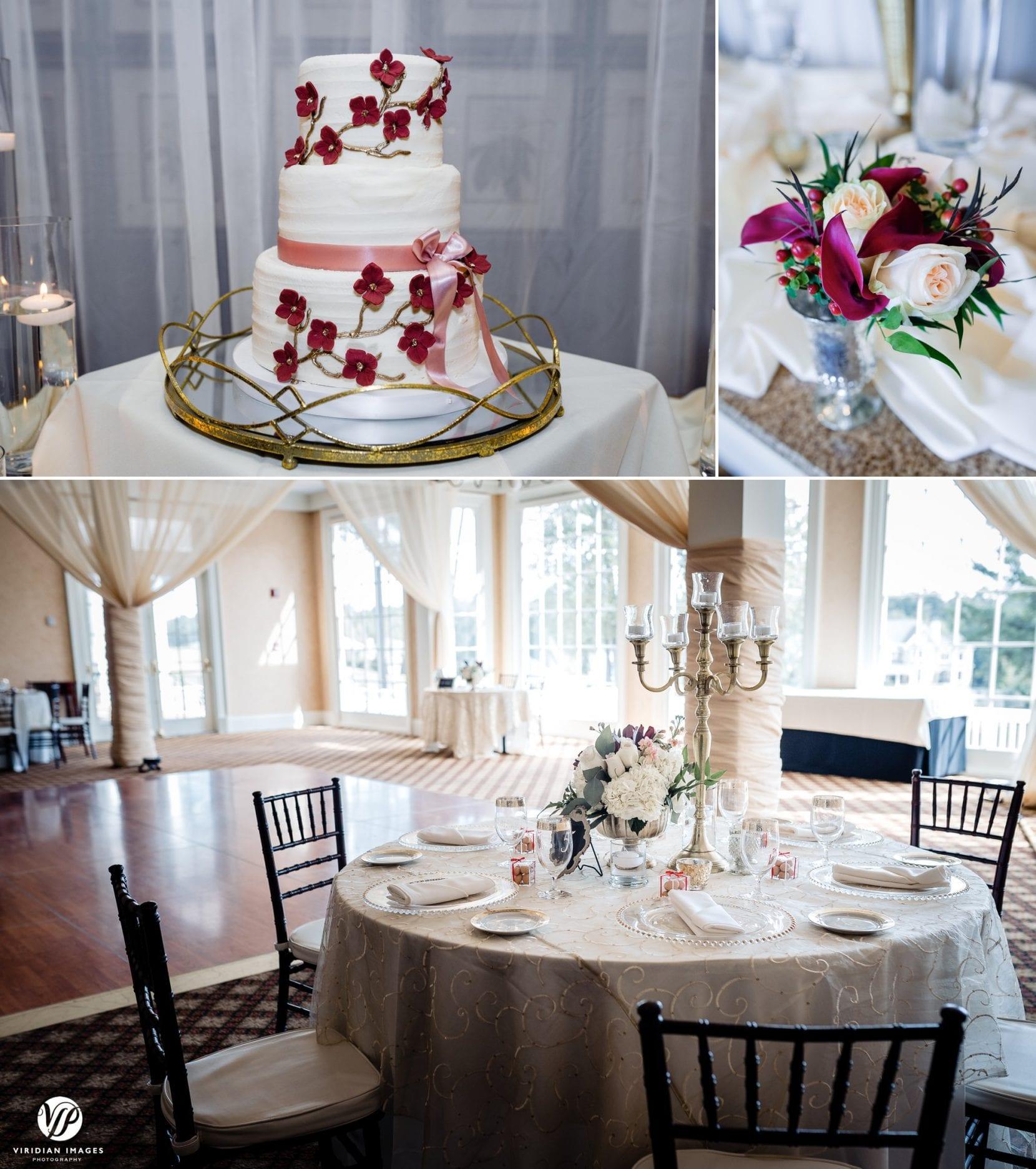 reception detail shots at tpc sugarloaf