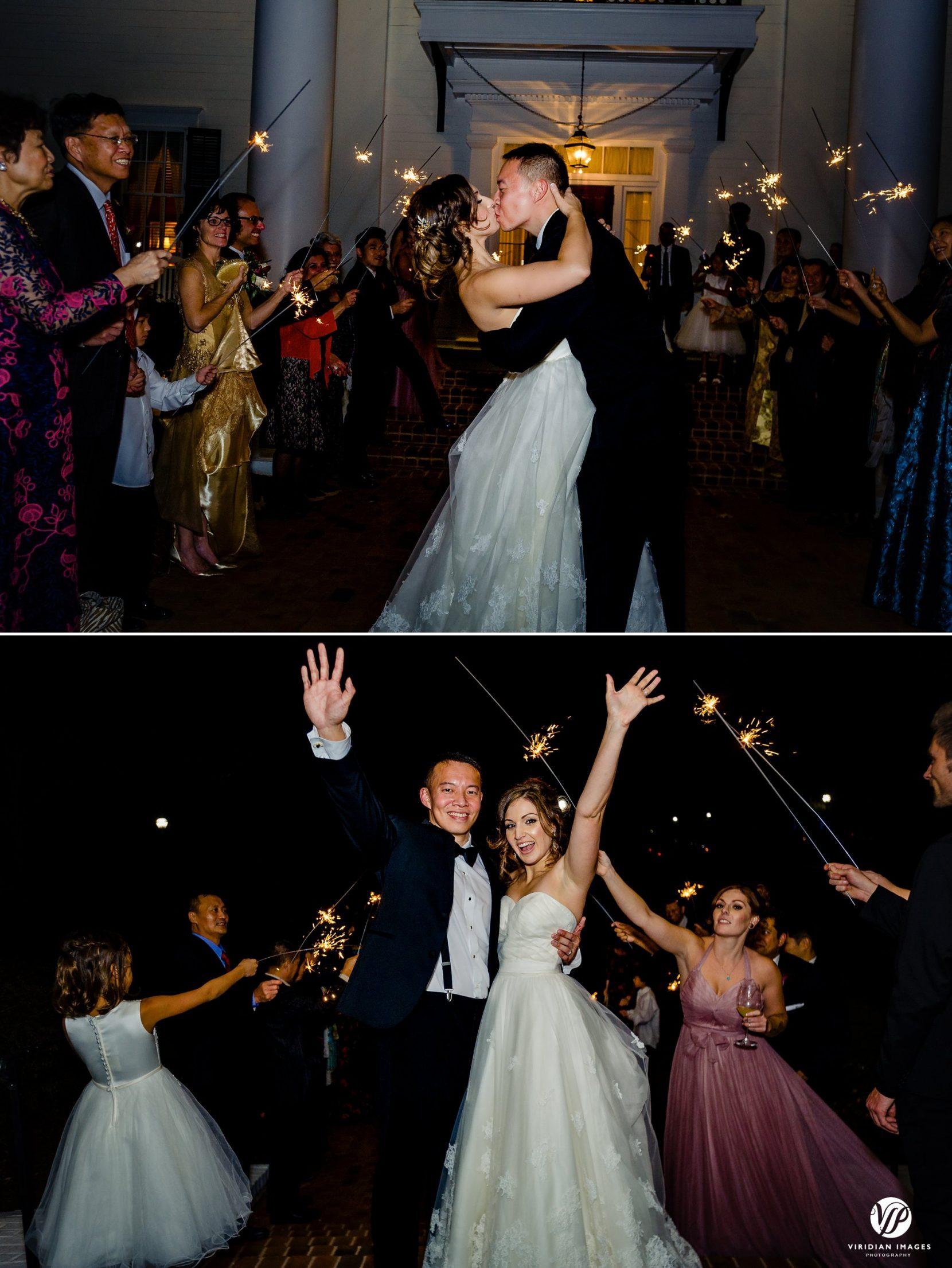 wedding exit sparklers