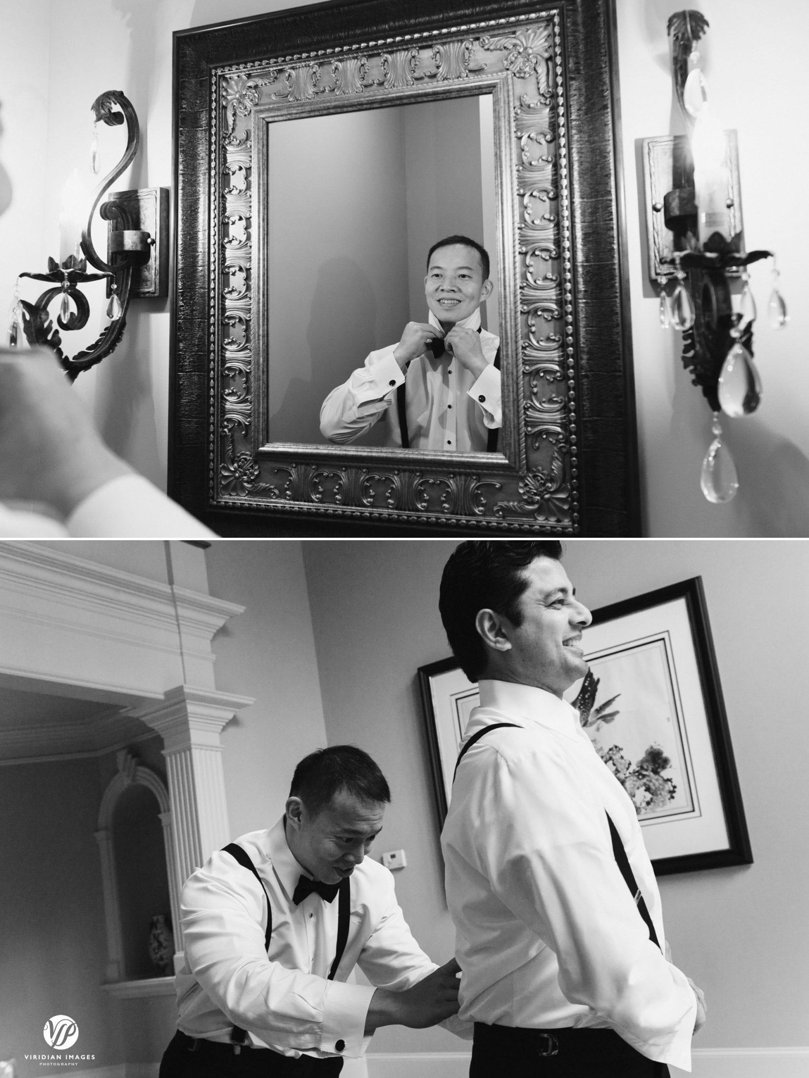 groom and groomsmen get ready