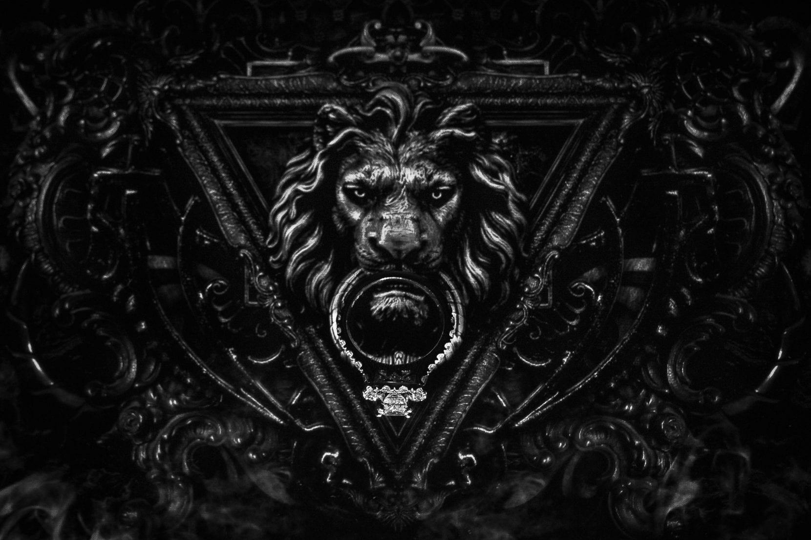 ring shot lion knocker