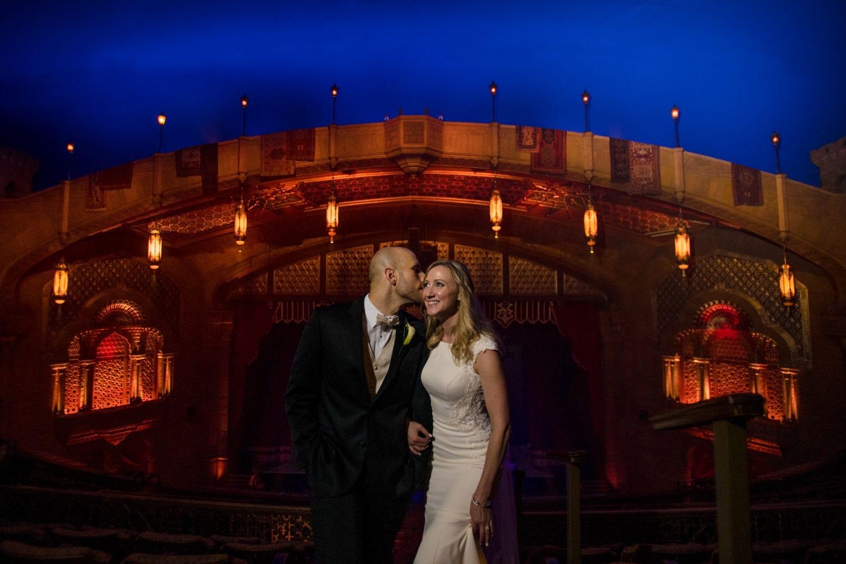 couple portrait bride fox theatre photo