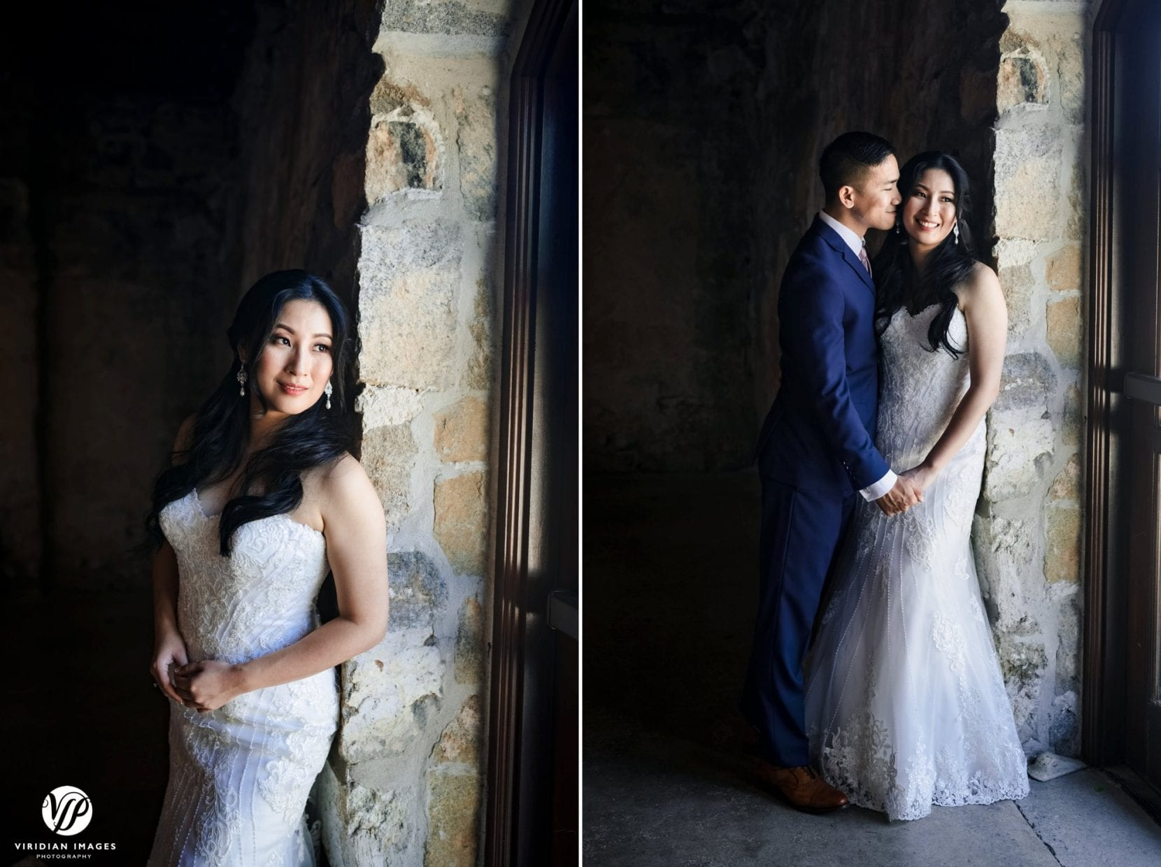 bride portrait and couple portrait
