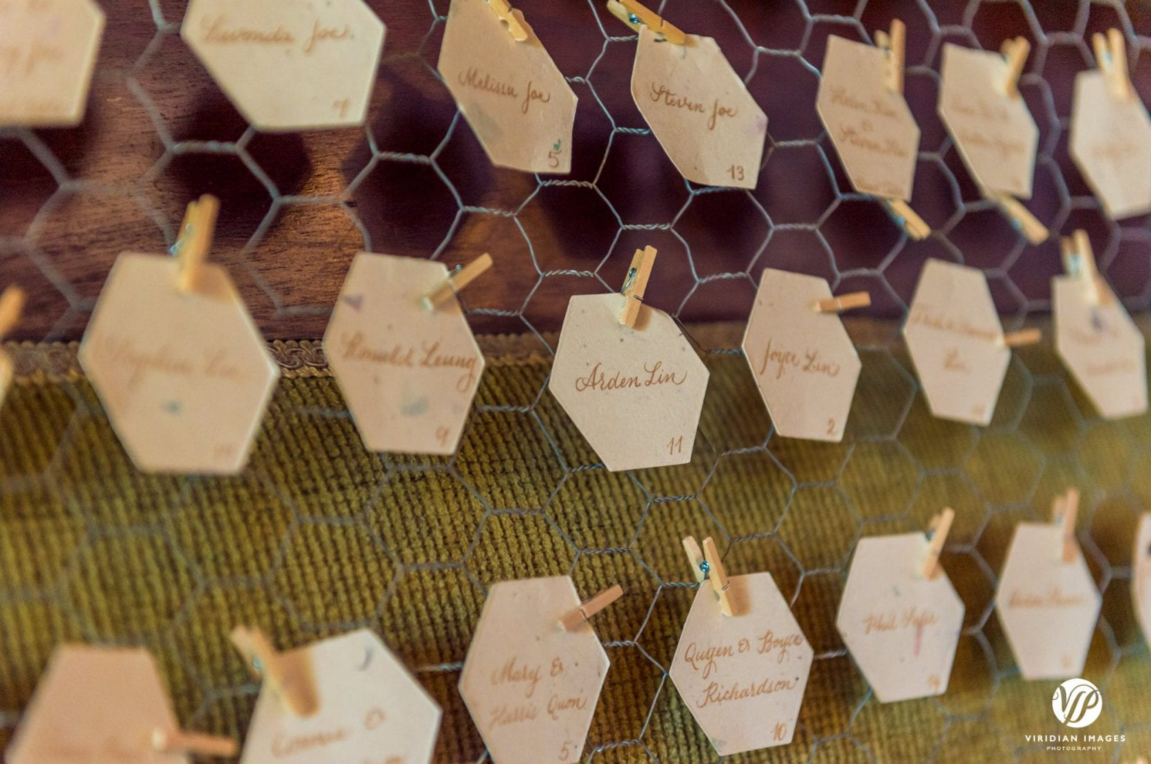 guest seating chart chicken wire miniature clothespins